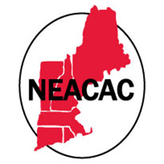 New England Regional logo of shapes of New England states in red